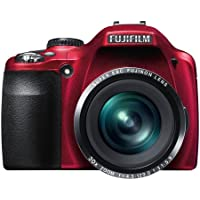 Fujifilm Finepix SL300 14MP Digital Camera with 30x Optical Zoom (Matte Red) (OLD MODEL)