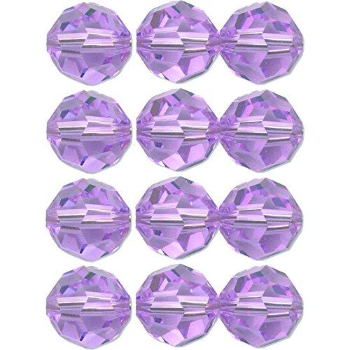 - 12 Violet Round Swarovski Crystal Beads 5000 8mm New