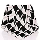 EasyDu Newborn Baby Toddler Deluxe Blanket,Black&White Swan Pattern,Kids Throw Blanket Unisex