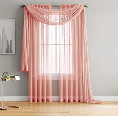 mi-Sheer Curtains - 2 Pieces - Total size 108