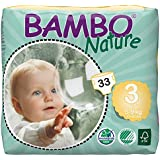 Bambo Nature Premium Baby Diapers, Midi, 33 Count size 3