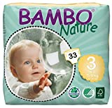 Bambo Nature Premium Baby Diapers, Size 3, 33 Count