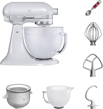 KitchenAid Robot de cocina | fop Juego | Artisan 5 ksm156efp helado del paquete incluye – Heladera y cuchara para helado para postre casera de creaciones (Frosted Pearl): Amazon.es: Hogar