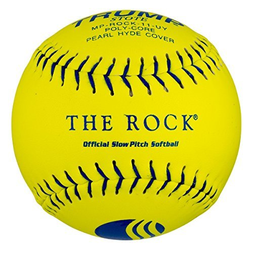 """1 Dozen USSSA Trump The Rock 11"""" Softballs - 44cor/.400 Compression (MP-ROCK-11-UY) 12 Balls"""