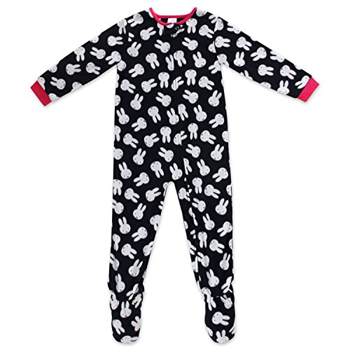 - Mad Dog Todder Girls Miffy Blanket Sleeper,Black and White,5