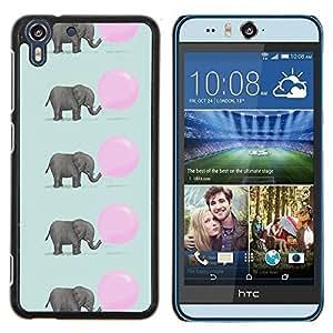 Dragon Case - FOR HTC Desire EYE M910x - elephant cute pink balloon pattern - Caja protectora de pl??stico duro de la cubierta Dise?¡Ào Slim Fit