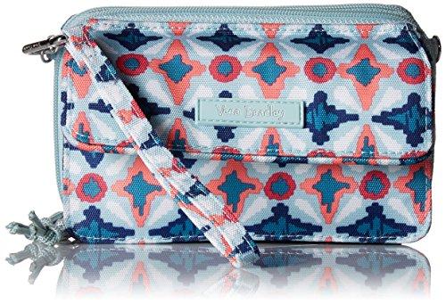 Vera Bradley Lighten Up RFID All in One Crossbody, Polyester, water geo