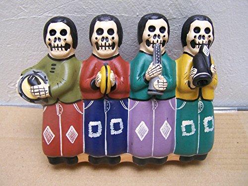 Dia de los Muertos Day of the Dead Skeleton Musicians in a Row - Peru