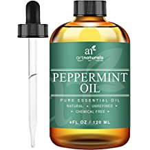 ArtNaturals Pure Peppermint Essential Oil - 100% Pure and Natural Premium Therapeutic Grade Mentha Peperita Essential Oil, Best Fresh Scent for Home and Work, Perfect to Repel Mice and Spiders, 4 oz / 118 ml.