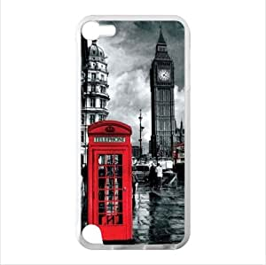 Customized Classic British London Red Telephone Box And Big Ben iPod Touch 5 TPU (Laser Technology) Case, Cell iPod TouchCover
