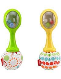 Fisher-Price Rattle 'n Rock Maracas, Green/Yellow BOBEBE Online Baby Store From New York to Miami and Los Angeles