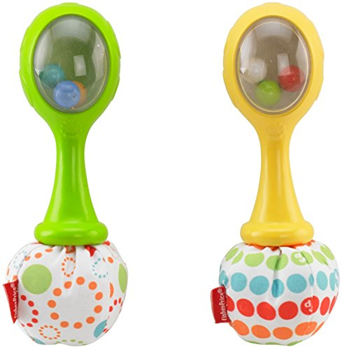 : Fisher-Price Rattle 'n Rock Maracas, Green/Yellow