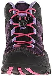 KEEN Pagosa Mid WP Hiking Shoe (Little Kid/Big Kid), Blackberry/Bougainvillea, 1 M US Little Kid