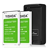 YISHDA Galaxy Note 3 Battery, 2 X Li-Ion Battery for Samsung Galaxy Note 3, N9000, N9005 LTE, AT&T N900A, Verizon N900V, Sprint N900P, T-Mobile N900T [3200mAh] with Note 3 Spare Battery Charger