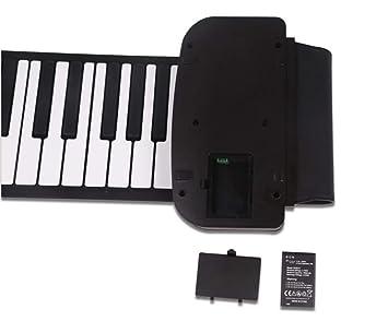 Piano Portátil Flexible De 61 Teclas KD-231 Con Teclado Suave USB Plegable, Apto Para Principiantes: Amazon.es: Instrumentos musicales