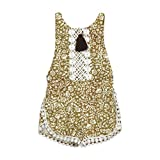 Kingko Cute Baby Girl Bodysuit Summer Sleeveless Romper Suits Girl's Kid Baby Jumpsuit Playsuit Fashion Summer Clothes Outfits (24-30 Months, Gold)