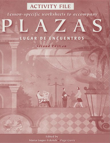 Activity File for Plazas: Lugar de encuentros, 2nd