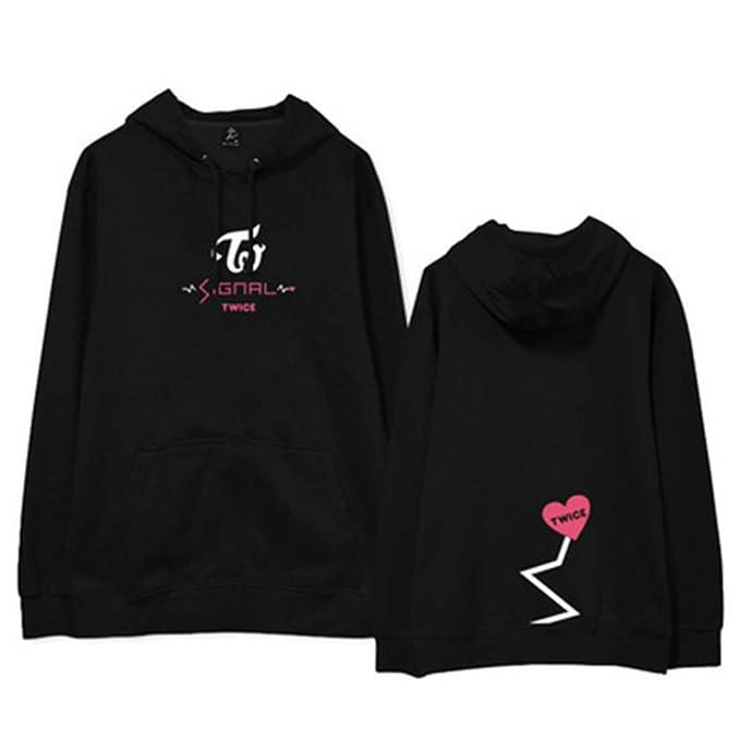 KPOP Twice Concert Signal Album Hoodie Unisex Heart Print Sudadera Manga Larga Sudaderas para Otoño Invierno Sudaderas con Capucha: Amazon.es: Ropa y ...