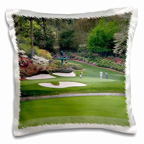 (Angel Wings Designs Golf - Masters - Augustas Amen Corner Golf Course - Where Dreams are Made and Lost - Pillow Case - 16x16 inch Pillow Case)