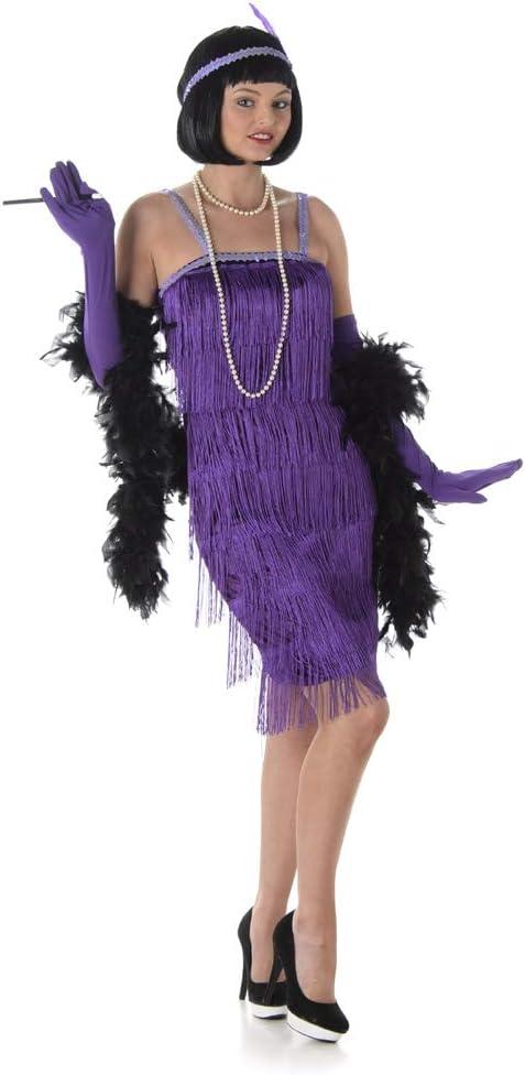Generique - Disfraz de charlestón Violeta Mujer: Amazon.es ...