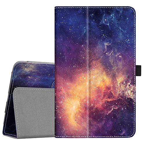 Fintie Folio Case for Samsung Galaxy Tab A 8.0 2018 Model SM-T387 Verizon/Sprint/T-Mobile/AT&T, Slim Fit Premium Vegan Leather Stand Cover, Galaxy