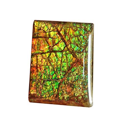 (Beautiful Natural Ammolite Cabochon, Rectangle Shape, Multi Color Flashy Ammonites, Handmade, Pendant Stone AG-6455)