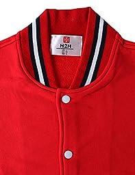 H2H Mens Slim Fit Varsity Baseball Bomber Jacket RED US S/Asia M (CMOJA082)