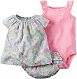 Carters Baby Girls 3-pc. Floral Bodysuit Set 9 Month Pink multi