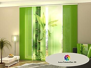 trendy lot de panneaux japonais motif bambou gardinenbox. Black Bedroom Furniture Sets. Home Design Ideas