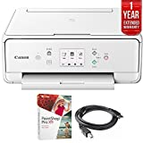 Canon PIXMA TS6120 Wireless All-in-One Compact Printer with Scanner & Copier White (2229C022) Corel Paint Shop Pro X9 Digital Download, High Speed 6-foot USB Printer Cable & 1 Year Extended Warranty