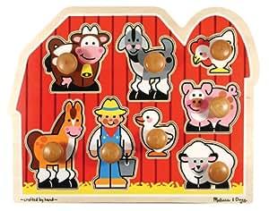 Melissa & Doug Farm Animals Jumbo Knob Wooden Puzzle