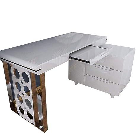 Amazon.com: Chuan Han Rotating Computer Desk, Family Bedroom ...