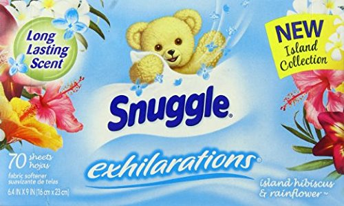 (Snuggle Exhilarations Fabric Softener Dryer Sheets, Island Hibiscus & Rainflower, 70 Count (Pack of 3))