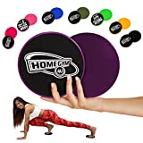 HomeGym 4U Set of 2 Gliding Discs, Dual Sided Abdominal Sliders for Carpet or Hardwood Floor, Core...