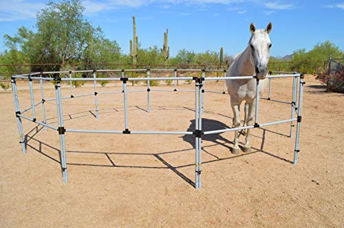 (Affordable Portable Products Electric Horse Corral- Fully Assembled 8 Panels)