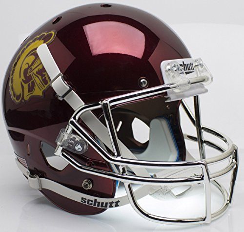 USC Trojans Chrome Replica Full Size Football Helmet by Schutt