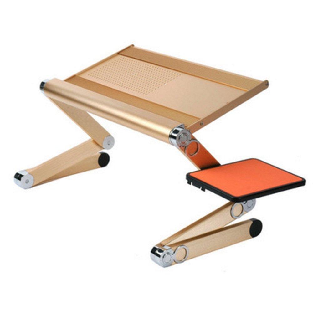 ZZHF 折りたたみ式のテーブル持ち運びのモバイルレイジーテーブルベッド学習テーブルシンプルなラップトップテーブル3色オプション60 * 29センチメートル デスク ( 色 : Tyrant gold ) B07CRW5JJDTyrant gold