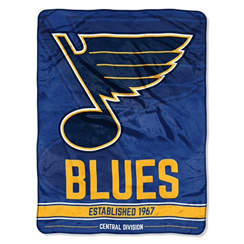 The Northwest Company Officially Licensed NHL St. Louis Blues Break Away Micro Raschel Throw Blanket, 46