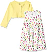 Luvable Friends Baby-Girls Dress and Cardigan Set