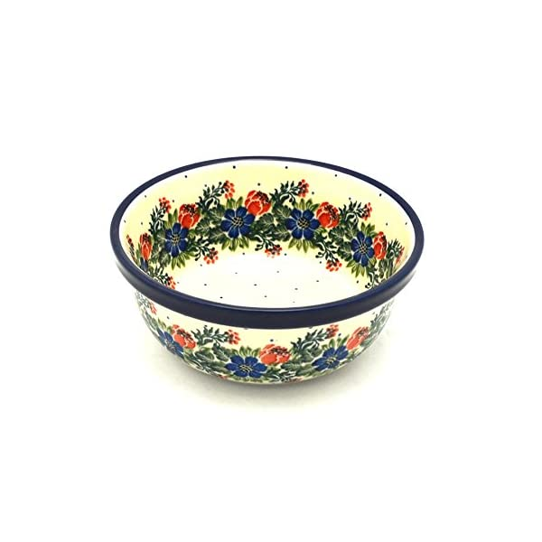 Polish Pottery Soup and Salad Bowl – Garden Party