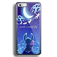 Stitch Peter Pan i wish i could fly for iPhone 6/6s Black case
