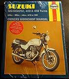 1979-1985 HAYNES SUZUKI GS/GSX250, 400 & 450 TWINS SERVICE WORKSHOP MANUAL (736)