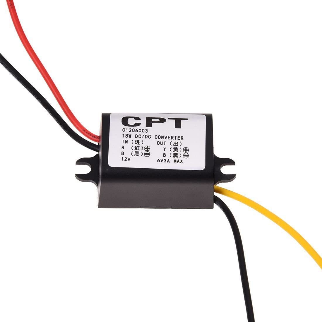 SODIAL R 12V to 6V DC-DC Buck Converter Step Down Module Power Supply Voltage Regulator