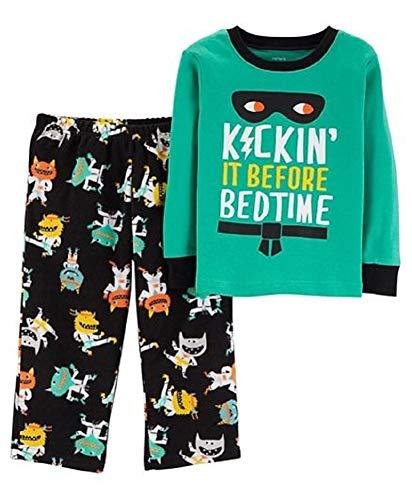 Carter's Baby Boys 2-Piece Monster Pajamas - 18 Months Green