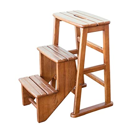 Awesome Amazon Com Zemin Folding Ladder Chair Staircase 3 Step Andrewgaddart Wooden Chair Designs For Living Room Andrewgaddartcom