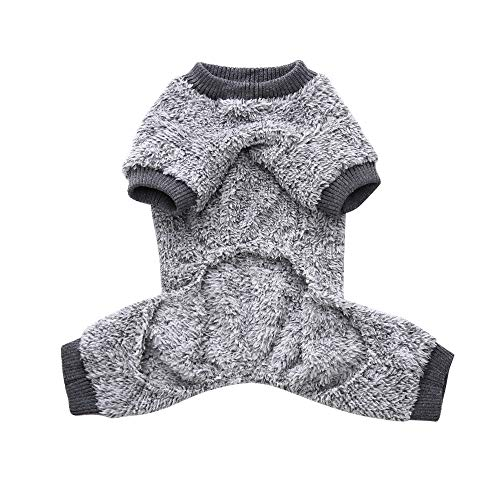 Puppy Apparels Cats Doggy Shirt Sweater Costume Pet Dog Clothes Jacket Coat (Gray, S) ()
