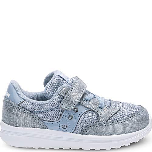Lite Girl (Saucony Girls' Baby Jazz Lite Sneaker, Blue Sparkle, 11 Wide US Little Kid)