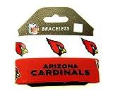 NFL Arizona Cardinals Silicone Rubber Bracelet, 2-pack