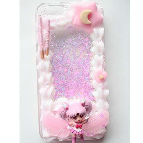 sports shoes 78e4c c9c4d Amazon.com: Decoden IPhone 6 /Chibiusa Framed Glitter Liquid Phone ...