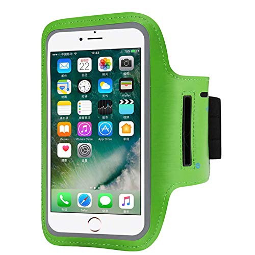 (Armband Sweatproof Running Armbag Gym Fitness Workout Cell Phone Case Key Holder Compatible with iPhone X/XS/XS MAX/XR/ 8 7 6 6s Plus Samsung Galaxy S9 S8 Edge/Note 8 9,Phone Diagonal 5.3